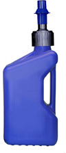 TUFF JUG Fuel Can w/ Ripper Cap 10L Translucent Blue/Blue Cap