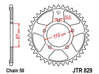Bakdrev JT Stål 46 Kuggar typ 829 530 Pitch  JTR829.46