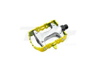 Par pedales BTT aluminio. Amarillo - W30AM