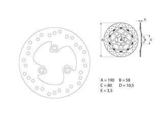 BREMBO Oro Brake Disc Round Fix - 53.240716