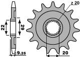 PBR Ritzel 13 Zähne Kette 520 KawasakiKX250F