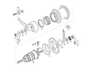 BRAKE ARM CONE SRAM I-3/IGH/COASTER BRAKE