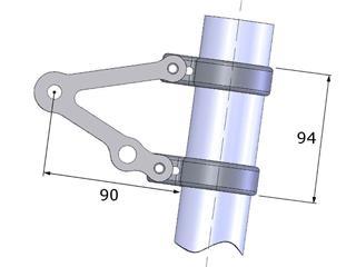 LSL Clubman Headlight Bracket Kit Stainless Steel Universal for USD Fork Ø53/55mm  - 66718139-a977-4df5-969e-3125ae08525d