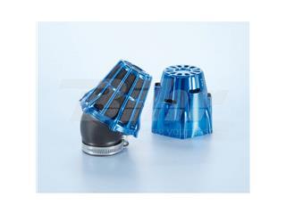 Filtro de potencia (air box) Polini, cromado, azul, Ø42, curva 30' (203.0115)