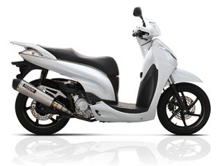 YASUNI Scooter 4 Exhaust System Titanium Look Stainless Slip-on/Black End Cap Honda SH300I