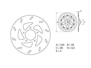 BREMBO Oro Brake Disc Round Fix - 53.240730