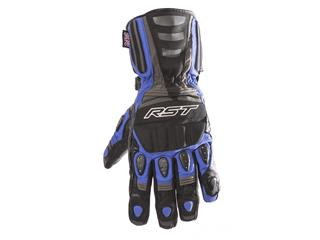 RST Storm CE Waterproof Gloves Touring Leather/Textile Blue Size L/10