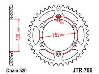 Couronne JT SPROCKETS 46 dents acier standard pas 520 type 706