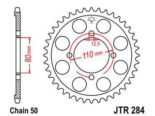 Couronne JT SPROCKETS 38 dents acier standard pas 530 type 284