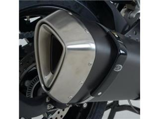 R&G RACING Extra Large Exhaust Protector Black BMW R1200RT