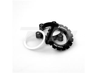 Conversor de Centerlock a IS 6 tornillos, negro con logo para Reaxcion/Deamion/Race
