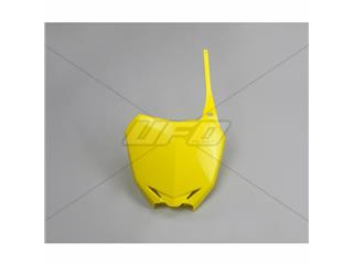 Plaque numéro frontale UFO jaune Suzuki RM85 - 78323264