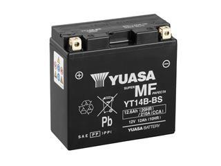 Batterie YUASA YT14B-BS sans entretien livrée avec pack acide - 32YT14BBS