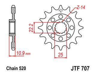 Pignon JT SPROCKETS 15 dents acier standard pas 520 type 707 Aprilia - 6af07d71-736e-4ca6-bcf6-04aede896df9