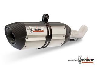 MIVV SUONO Stainless/Carbon End Cap Double Slip-On Kawasaki Z1000