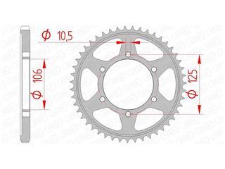 AFAM Achtertandwiel 37 Tands Staal Standaard 525 Type 86605