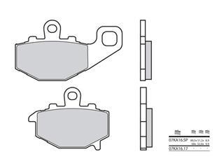BREMBO Bremsbelage 07KA16SP sintermetall