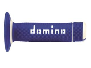 DOMINO A020 Cross Two-Colors Half-Waffle Grips Blue/White