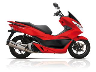 YASUNI Scooter 4 Exhaust System Titanium Look Stainless Slip-on/Black End Cap Honda PCX 125