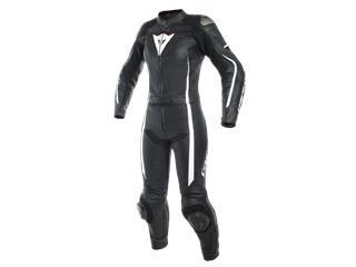 Leather Suit Dainese Assen 2 Pcs Lady Blk/Wht Sz EU 36 (IT42) (36)