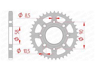 Couronne AFAM 35 dents acier standard pas 428 type 10201 - 47000185