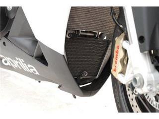 R&G RACING (Oil) Radiator Guard Black Aprilia Tuono/RSV4