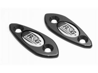 Mirror hole blanking plate, R&G RACING black Suzuki GSX-R600 /750
