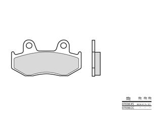 BREMBO Brake Pads 07038CC Carbon Ceramic