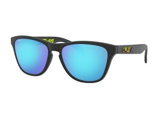 OAKLEY Frogskins® XS Sunglasses Valentino Rossi Signature Series (Youth Fit) Polished Black PRIZM™ Sapphire Lens