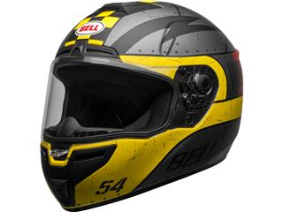 Casque BELL SRT Devil May Care Matte Gray/Yellow/Red taille L - 800000301070