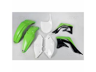 Kit plastique UFO couleur origine vert/noir/blanc Kawasaki KX450F - 78244642