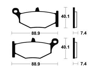 Plaquettes de frein TECNIUM MA333 organique - 712750b4-345c-4ade-8421-dd69531a75a8