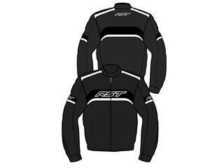 RST Pilot CE Jacket Textile Black/White Size L Men