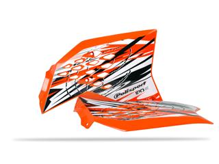 Ouïes de radiateur POLISPORT orange/déco KTM SX65 - 784124KT