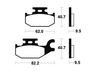 Plaquettes de frein TECNIUM ME254 organique - 71a30223-8a8f-4c3e-9819-1437f7afe0e2