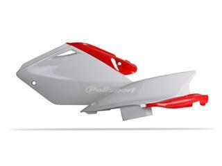 Plaques latérales POLISPORT couleur origine blanc/rouge Honda CRF250R - 786018ST