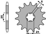 Pignon PBR 14 dents acier standard pas 520 type 569 Yamaha YFZ350 Banshee