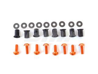 Kit parafusaria viseira alumínio Pro-Bolt laranja SK020O - 54778