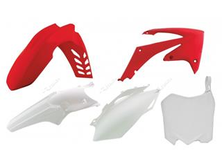 Kit plastique RACETECH couleur origine rouge/blanc Honda CRF250/450R - 7804791
