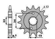 PBR Front Sprocket 13 Teeth Steel Standard 520 Pitch Type 2276