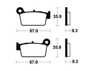 Plaquettes de frein TECNIUM MR290 métal fritté - 73914a8f-e8bd-4661-aa72-c32db2aa0b28