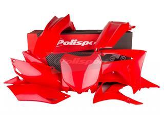 Kit plastique POLISPORT rouge Honda CRF250F/CRF450F - PS211RD19