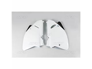 Plaques latérales UFO blanc Suzuki RM125/250 - 78327210