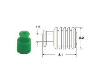 BIHR Hollow Silicone Seals 090 FRKW Ø1.6mm Green