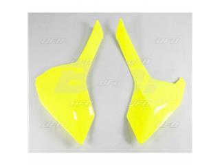 Tampas laterais traseiro UFO Husqvarna amarela fluor
