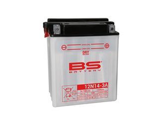 Batterie BS BATTERY 12N14-3A  conventionnelle livrée avec pack acide - 321032