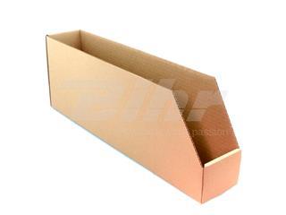 Caja de cartón automontable para organización de stock 560x100x200. Alta resistencia. Grosor 4mm