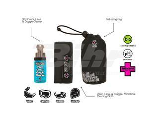 Kit Limpiador antibacteriano lentes y cascos Muc-Off Helmet & Visor Cleaner Spray 35ml + paño + bolsa transporte - 756e26be-f44b-42b9-a737-c4c7e15df2a7