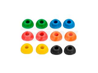 Par de gomas para valvula de rueda Vparts negro