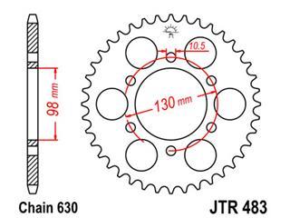 JT SPROCKETS Rear Sprocket 35 Teeth Steel Standard 630 Pitch Type 483